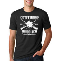 Gryffindor Quidditch Potter Fan Mens T Shirt Graphic Movie Tee