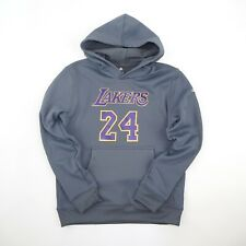 Kobe Bryant Adidas Los Angeles Lakers Grey Pullover Player Jersey Hoodie Youth