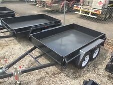 "8x5 TANDEM BOX TRAILER | DROP FRONT AND REAR TAILGATES | 12"" SIDES 