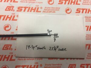 STIHL fs38 fs45 fs55 fs46 R fc55 throttle cable  *compare ENDS*  OEM NEW   {D }