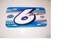 "NEVER USED NOS MINT 2004 MARK MARTIN ""#6 VIAGRA"" NASCAR LICENSE PLATE"
