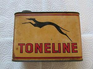 Ancien bidon huile publicitaire TONELINE 1 litre vide auto moto camion