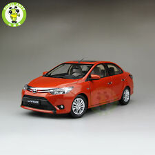 1:18 Toyota New Vios Diecast Car Model for collection gifts hobby Orange