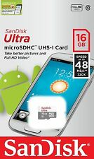 SanDisk 16GB Ultra Class 10 48MB/S 320X MicroSD Micro SDXC UHS-I TF Memory Card