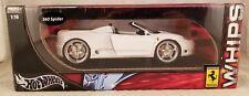 FERRARI 360 Modena SPIDER 1/18 HOT WHEELS WHIPS WHITE DIECAST IN BOX 2003 Mattel