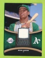 2008 Upper Deck Sweet Spot Swatch - Reggie Jackson Oakland Athletics