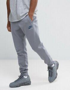 NIKE mens S M L XL dark grey Air Fleece  Pants Bottoms Sportswear Track Joggers
