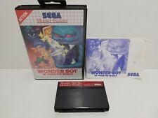 WONDER BOY IN MONSTER WORLD SEGA Master System Complete TESTED