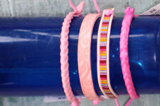 pink leather tie wraps  (12) Dozen per order gender reveal party