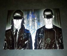 """NERO PP X2 SIGNED 10""""X8"""" PHOTO REPRO DUBSTEP DRUM N BASS"""