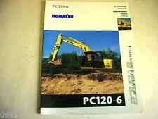 Komatsu Pc120-6 Advance Hydraulic Excavator Color Brochure