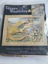 "Teresa Wentzler ""The Guardian"" Cross Stitch Kit #1139-78 Dragon Griffin Medieval"