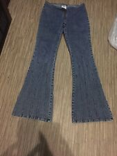 "Gasoline Women's Jeans Size 9 (28"") Inseam 31"" Rise 8"" Flare Bottom Nice"