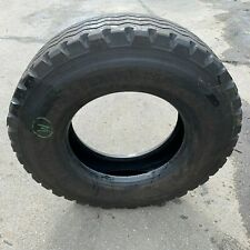 Pair used Bandvulc Wastermaster 11R 22.5 truck tyre with Curbing Band 10mm.