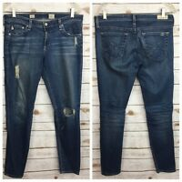 AG Adriano Goldschmied The Legging Ankle Super Skinny Distressed Size 30R