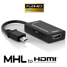 5 Pin & 11 Pin Micro USB MHL to HDMI HDTV Cable Adapter For Cell Phone Tablet AU