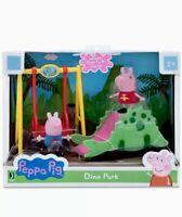 New PEPPA PIG George Dino Park Swing Slide + 2 Figures KIDS GIFT SET