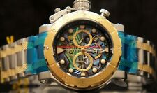 Invicta Mens Coalition Force Chronograph Abalone Dial Two-Tone SS Bracelet Watch