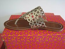 BRAND NEW TORY BURCH DAVY LASER CUT  THONG  NEW IN THE BOX SIZE 10