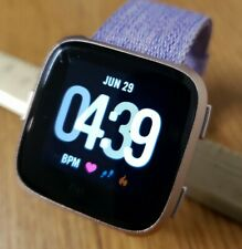Fitbit Versa Tracker Special Edition Lavender Small Band Rose Gold Case FB504