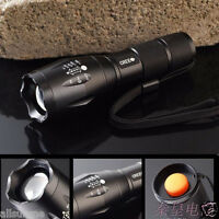 New Zoomable CREE XM-L T6 LED 18650/AAA Flashlight Torch Zoom Camping Lamp Light