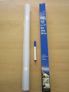 Large 2M Long Roll of Vinyl Magic Whiteboard Dry Wipe for Any Wall Surface