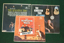 The Kingston Trio Sold Out + At Large + The Best Of 3- Lot Vinyl Record Albums