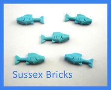 Lego Animal - 5x Fish Food Light Blue Castle City Pirates Hobbit Sea New Pieces