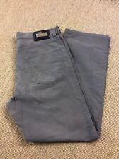 Mens HUGO BOSS W34 L30 Alabama Grey Canvas Jeans