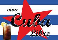 Viba Cuba Libre Bar Blechschild Schild gewölbt Metal Tin Sign 20 x 30 cm FA1011