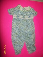 fits CABBAGE PATCH soft sculpture  KIDS girl   smocked romper