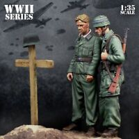 1:35 WWII The germans Paratroopers Unassambled High Quality Resin Kit 2 Figures