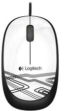 Logitech M105 Corded Optical Mouse (White)