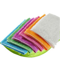 Home Bamboo Fiber Terry Towels Kitchen Dish Cloths Cleaning Drying Random ENR
