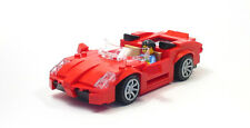 Lego Custom Red Mid Engine Sports Car   City Town Racers