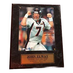 John Elway Limited Edition NFL Plaque Denver Broncos No. 49/730 No Certificate
