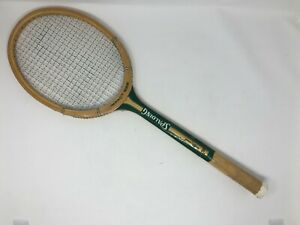 Vintage SPALDING IMPACT 222 Green & Gold Color Wooden Tennis Racquet - Free SH