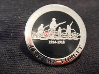 WW1 World War One Lest We Forget Remembrance Poppy Lapel Military Badge