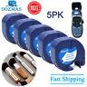 5PK 91331 Compatible Dymo LetraTag 91201 Plastic Label Tape 1/2'' 12mm LT-100H
