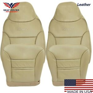 2000 2001 Ford Excursion Limited XLT Leather Seat Covers Replacement in Tan