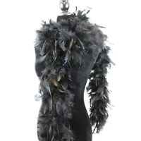 Black Chandelle Feather Boa Thick Turkey Feather Boa 85g