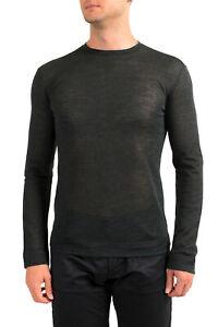 J's EXTE Men's Gray Linen See Through Crewneck Sweater US M IT 50