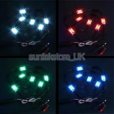 8pcs LED Undercar Underbody Underglow Kit Neon Strip Glow Light Tube 7 Color