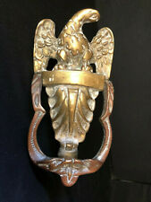 "Vintage Solid Brass    ""American""   ""Eagle Door Knocker""  ""Model Number 30"""