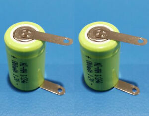 4 PCS x 1/2 AA Ni-MH 1.2V 800mAh Rechargeable Battery With 2 Solder Tabs New