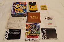 Game Boy Color Pokemon Pikachu Yellow System CIB