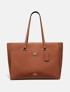 Coach Folio Saddle Leather Tote Shoulder Bag 78246