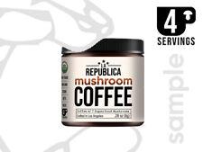 4 Serving SAMPLE of La Republica Organic Mushroom Coffee (immunity boost focus)