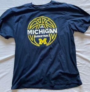 Vintage Adidas Michigan NBA Basketball NavyT-shirt XL