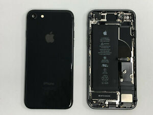 100% Genuine Original Chassis Housings For Apple iPhone 8 Black with PARTS